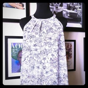 NWT Violet + Claire Sleeveless Floral Top Sz L